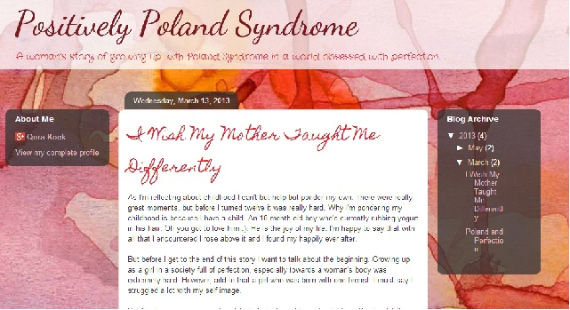 Poland Syndrome – Young Teenage Girls