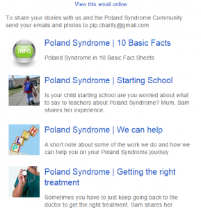 Poland Syndrome Newsletter